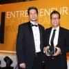 Dr Robert Phillips, Lecturer at The University of Manchester, presents Graham Shapiro with Technology Entrepreneur of the Year, for Reggie Enterprises.
